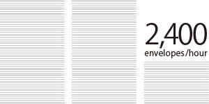 2,400 envelopes/hour