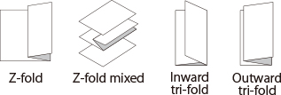 Z-fold,Z-fold mixed,Inward tri-fold,Outward tri-fold