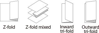 Z-fold,Z-fold mixed,Inward tri-fold,Outward tri-fold