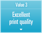 Value 3 Excellent print quality